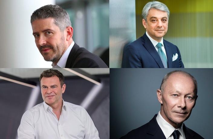 De haut en bas, de gauche à droite: Gilles Vidal, Luca de Meo, Tobias Moers, Thierry Bolloré.