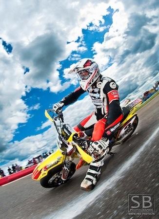 """Supermotard, championnat de France 2011, Livernon : interview de Stéphane Blot """"... j'ai préféré ne pas faire la superpole par peur de casser le moteur"""""""