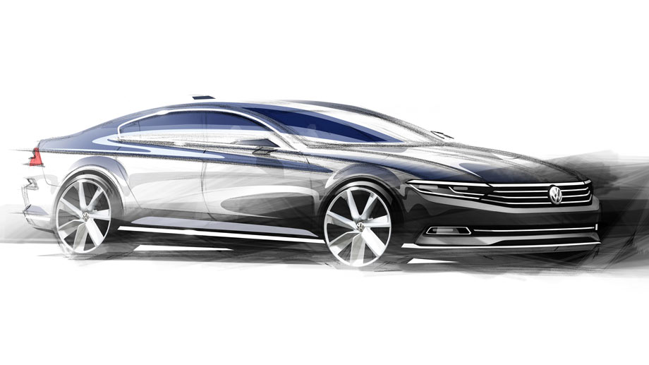 la future vw passat officielle mais en dessins. Black Bedroom Furniture Sets. Home Design Ideas