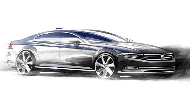 La future VW Passat officielle mais en dessins