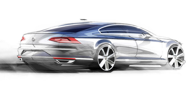 La future VW Passat officielle mais en dessins