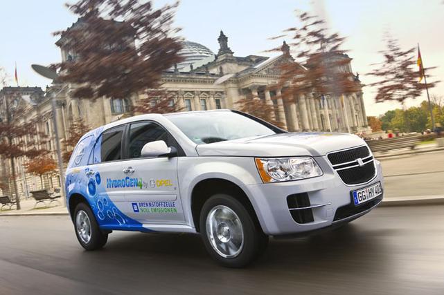 Un véhicule à l'hydrogène testé en Europe : l'HydroGen4