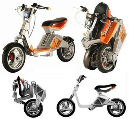 un scooter lectrique pliable lanc en 2009 le roboscooter. Black Bedroom Furniture Sets. Home Design Ideas