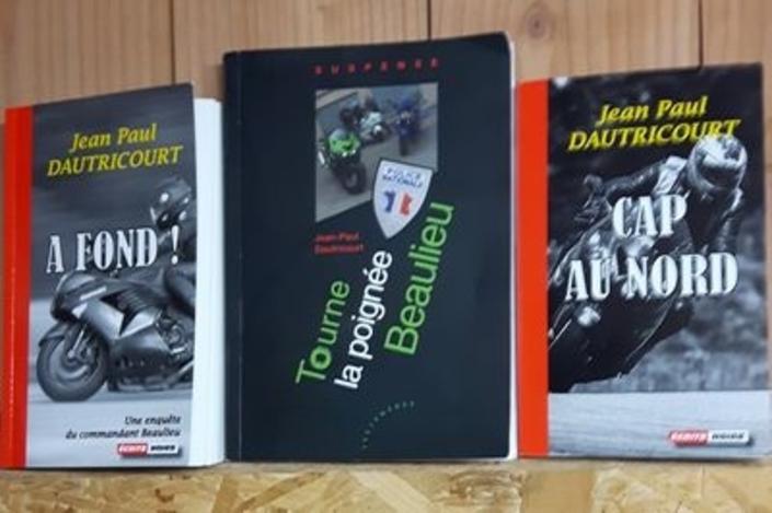 """Idée cadeau: les romans """"moto"""" de JP Dautricourt."""