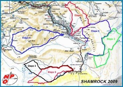 Rallye du Maroc 2009 : 24 au 30 octobre, la carte du parcours