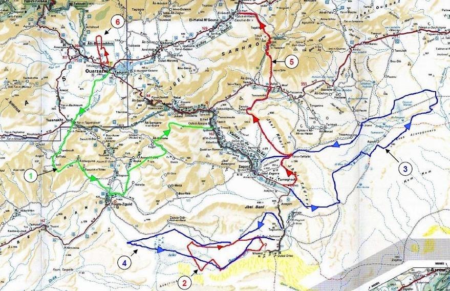 Rallye du Maroc : Le parcours 2011