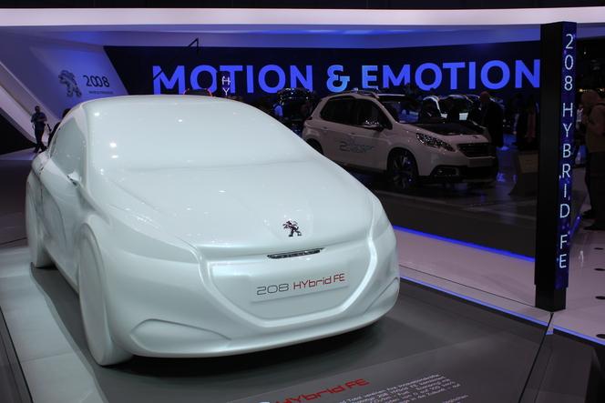 En direct du Salon de Genève 2013 : Peugeot 208 Hybrid FE, la GTI verte
