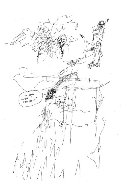 Sans le permis et Accélère, dessins de Dominique Forest
