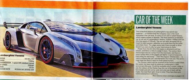 Genève 2013 : Lamborghini Veneno, trop rapide (ajout photos)