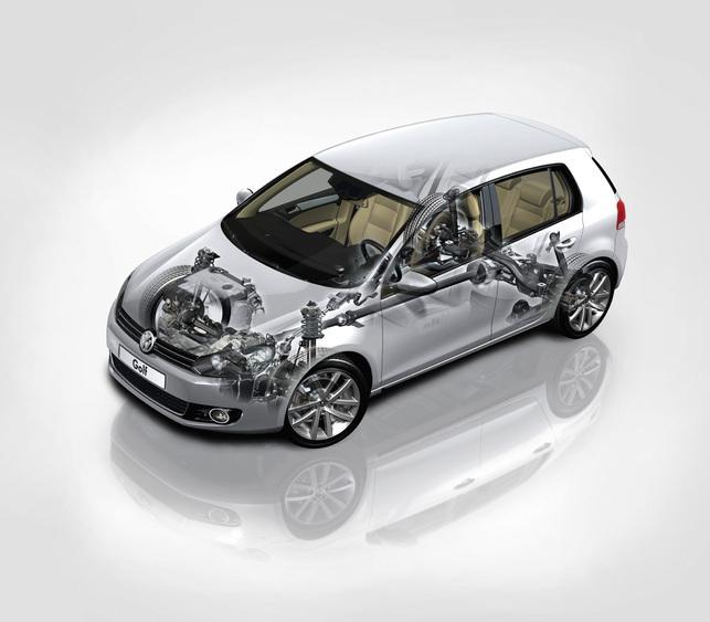 Zoom sur la Volkswagen Golf VI 4Motion