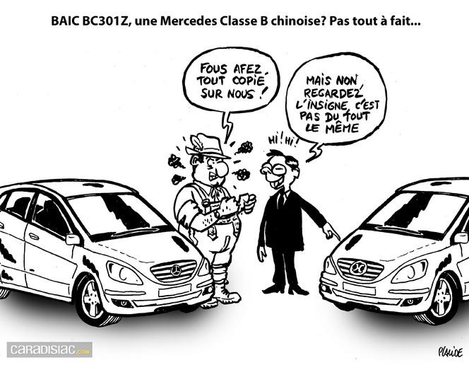 Le dessin du jour baic bc301z vs mercedes classe b le - Dessin voiture mercedes ...