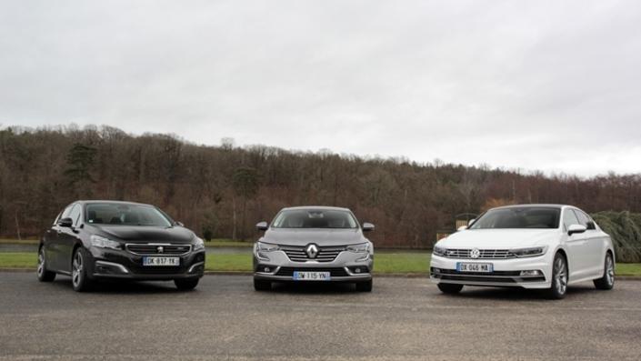 Peugeot 508, Renault Talisman et Volkswagen Passat auront bien souffert en 2017. Bonnes affaires en vue en concession!