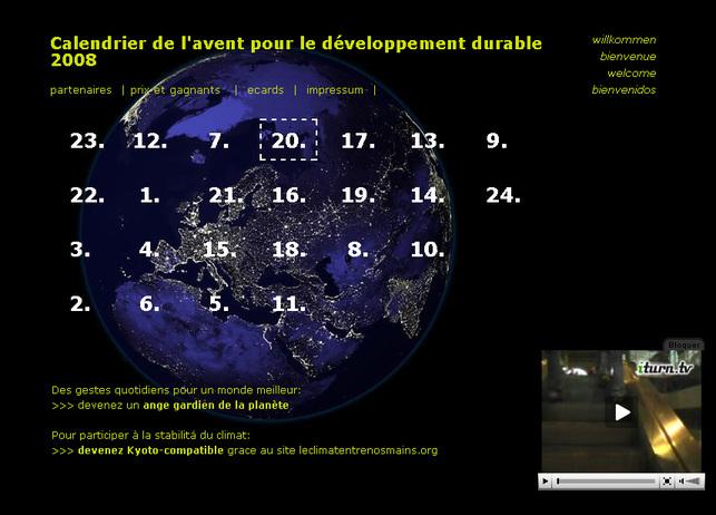 Suisse : le calendrier de l'Avent 2008 pour le développement durable