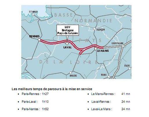 Gros plan sur le projet de LGV Bretagne/Pays de la Loire