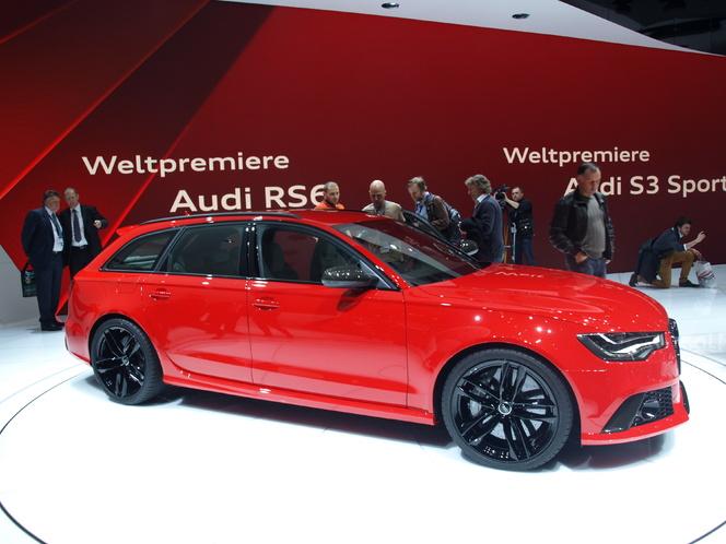 En direct du Salon de Genève 2013 - Audi RS6 Avant : downsizée