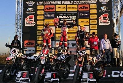 Supermotard mondial en Italie : Adrien Chareyre à 4 points du titre
