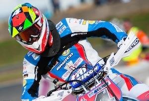 """Thomas Chareyre, champion du Monde Supermotard 2012: """"j'ai roulé au Mondial avec la même moto que l'année dernière"""" (interview)"""