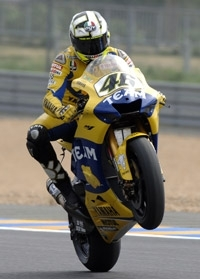 Valentino Rossi : Il reste dans le moto GP.