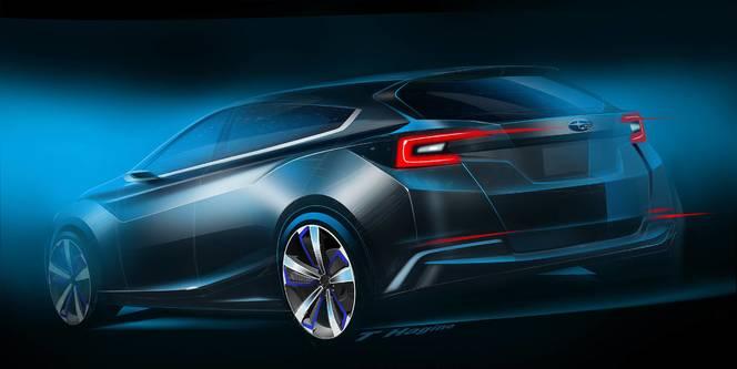 Tokyo 2015 : Subaru montre l'Impreza Concept en dessins