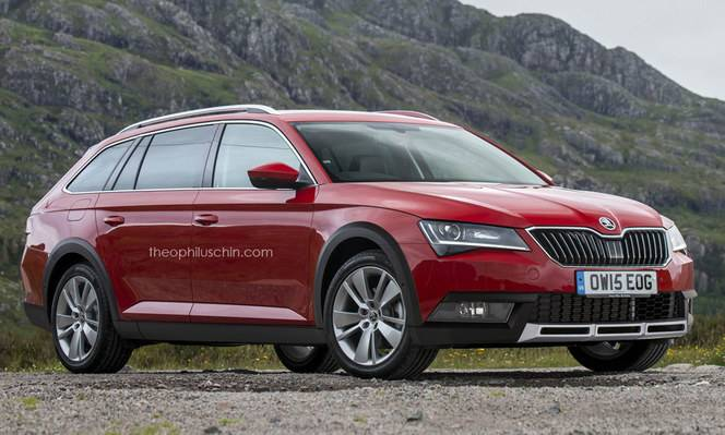 Design : un graphiste imagine une Skoda Superb Combi Scout