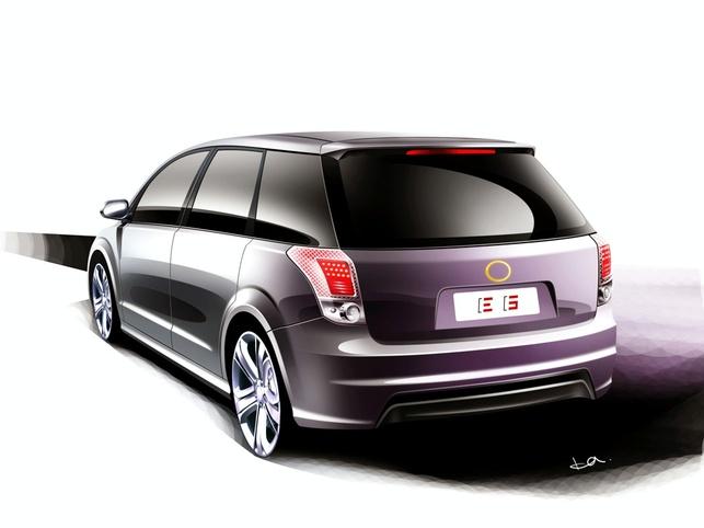 Une voiture chinoise électrique au Salon de Détroit 2009 : la BYD e6