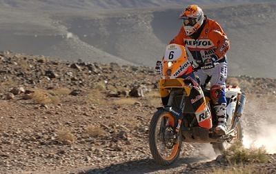 Rallye du Maroc 2009 : étape 2, Despres gagne l'étape raccourcie en 1h46