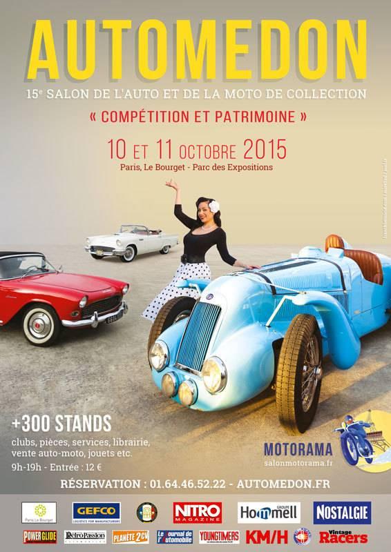 Salon Automédon: autos et motos anciennes à l'honneur les 10 et 11 octobre