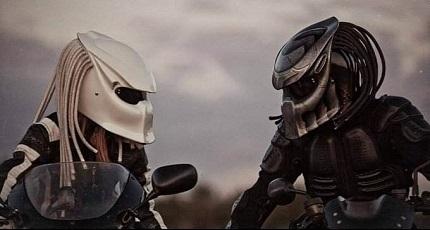Casque De Moto Predator insolite - casque: un look predator homologué ?