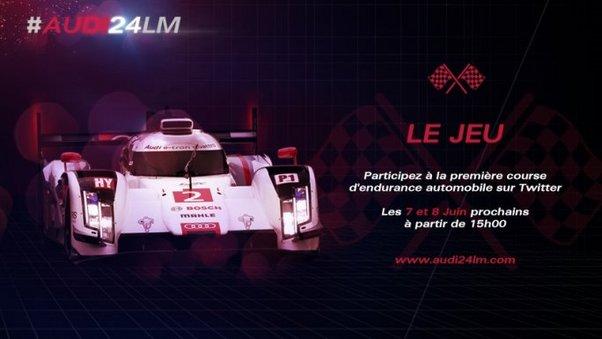 Jouez avec Audi en amont des 24 Heures du Mans 2014