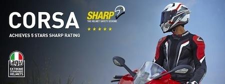AGV Corsa: 5 étoiles au S.H.A.R.P