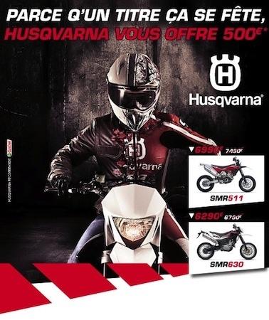 Husqvarna: des promos jusqu'en fin novembre 2011