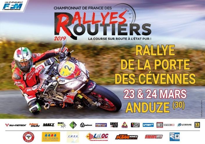 Championnat de France des Rallyes Routiers 2019: round 1, les Cévennes