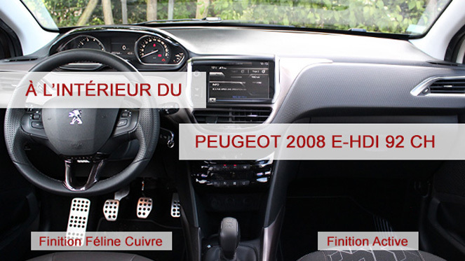 a l 39 int rieur de la peugeot 2008. Black Bedroom Furniture Sets. Home Design Ideas