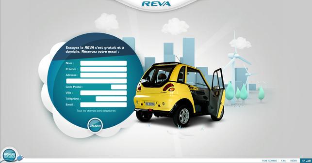 La citadine électrique Reva distribuée par Reva France