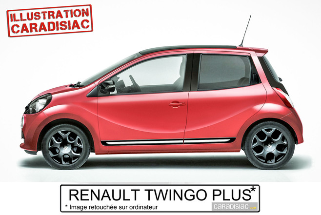 Une Renault Twingo quatre portes en 2014