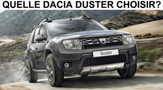 quelle dacia duster choisir. Black Bedroom Furniture Sets. Home Design Ideas
