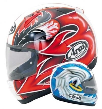 "Arai Viper GT : ""double face"", non : ""double profil"""