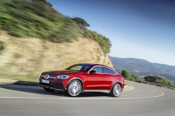 Mercedes GLC Coupé: petit lifting et nouveaux moteurs
