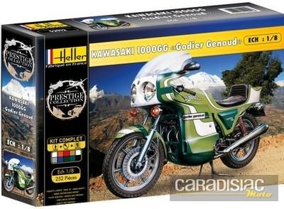 Idée cadeau: des maquettes de motos classiques au 1/8e chez Heller.