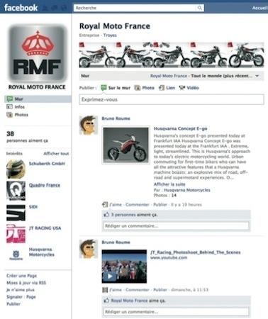 RMF (Royal Moto France) arrive sur Facebook