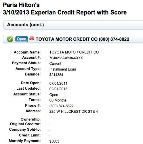 People: Paris Hilton et le crédit de sa Lexus LFA