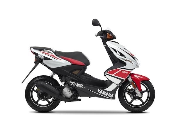 Nouveauté Scooter 2012 : Yamaha Aerox 50 cm3  WGP 50ème anniversaire