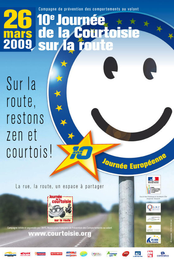 Gros plan sur la Journée Nationale de la Courtoisie au Volant et sur la route 2009