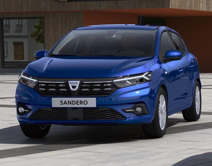 Le Sandero inaugure une nouvelle signature légère pour Dacia, sous la forme d'un Y.