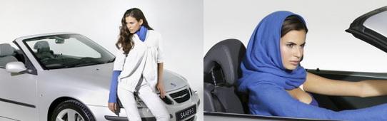 Saab pense aux femmes avec la création d'une écharpe de conduite classe !