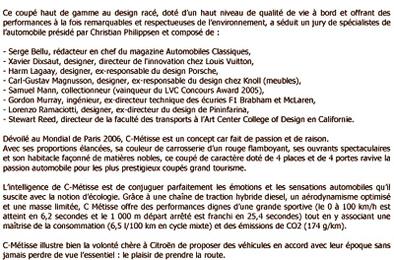 Citroën C-Metisse encore récompensée
