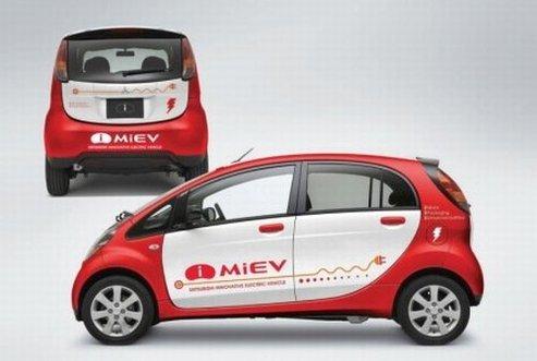 La Mitsubishi i MiEV électrique charme Monaco