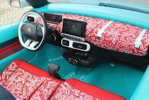 la planche de bord et les sièges sont revêtus de tissu néoprène