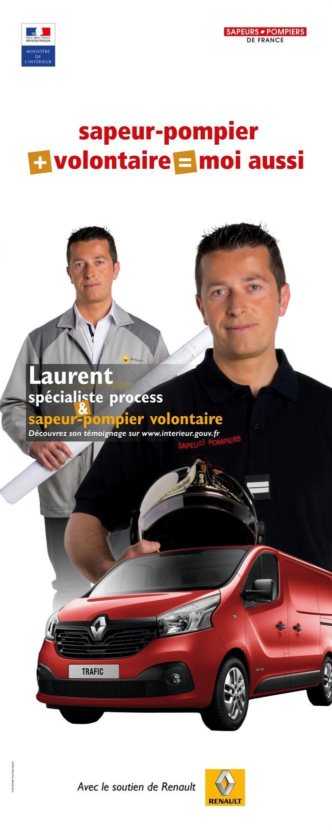 """Renault s'associe à la campagne """"sapeur-pompier + volontaire = moi aussi !"""""""