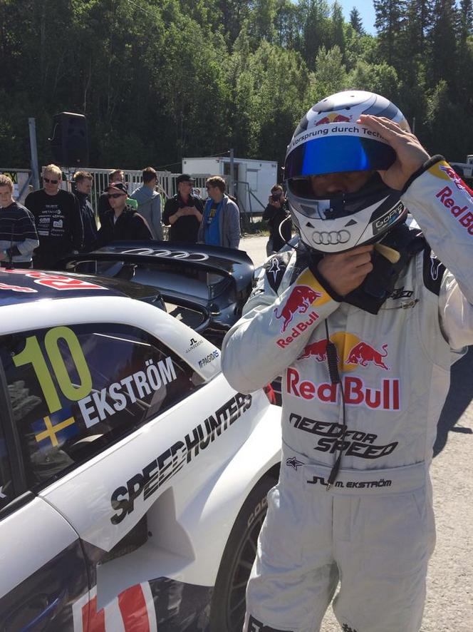 L'Audi S1 de rallycross en peinture de course